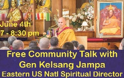 Free Community Talk with Gen Jampa - June 4th 7 pm
