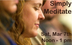 Simply Meditate Noon, Sat Mar 7