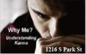 Why Me - Understanding Karma with address 280x174