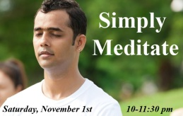 Simply Meditate November 1st